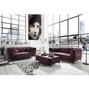 Zweisitzer-Sofa Monroe Textil - Silberfarben/Aubergine, Trend, Textil (185/80/96cm) - Carryhome