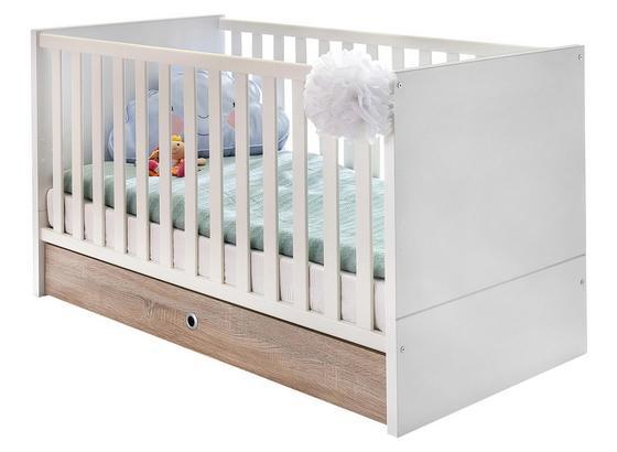 Zásuvka Pod Postel Billund - bílá/barvy dubu, Moderní, dřevo/kompozitní dřevo (70/16/140cm) - Modern Living