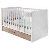 Zásuvka Pod Posteľ Billund - farby dubu/biela, Moderný, drevený materiál/drevo (70/16/140cm) - MODERN LIVING