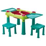 Kinder-Gartentisch Creative B: 79 cm Grün Türkis - Türkis/Hellgrün, Basics, Kunststoff (79/56/50cm)
