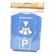 Parkuhr mit Eiskratzer und Abzieher - Blau/Weiß, Kunststoff (12/16cm)