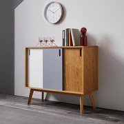 Komoda Maris - bílá/barvy dubu, Moderní, dřevo (88/76/35cm) - Modern Living