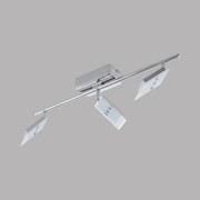 Led Strahler Ervas 3-Flammig verstellbar L: 58 cm - Chromfarben/Weiß, MODERN, Glas/Metall (7/58cm)