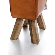Hocker Leder B: 40 cm - Braun, Natur, Leder (40/47/30cm) - Livetastic