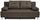 Boxspringsofa Ines B: 203 cm - Chromfarben/Braun, MODERN, Holz/Textil (203/96/102cm) - Luca Bessoni