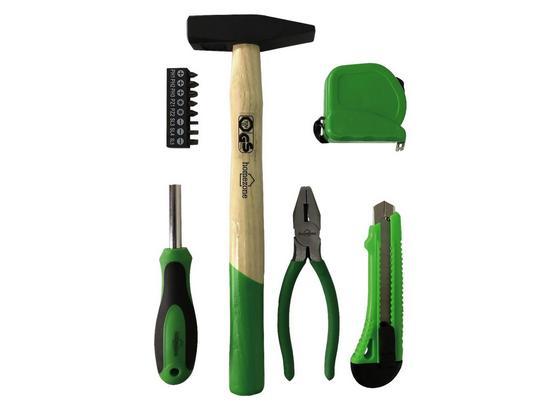 Werkzeugset Marcel - Schwarz/Grün, Basics, Holz/Kunststoff (35/25/3,5cm) - Homezone
