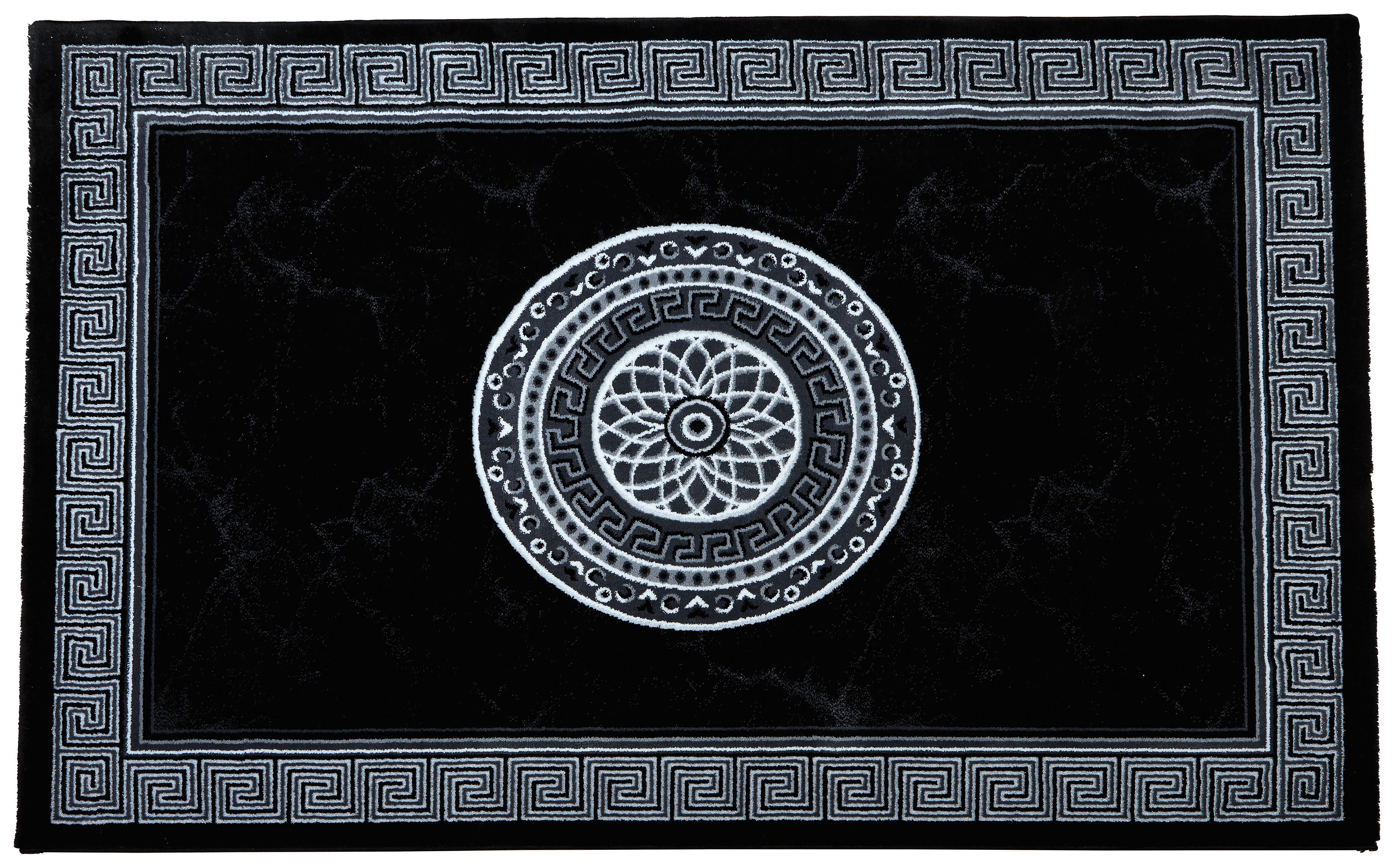 Szőnyeg Daryl - fekete/fehér, konvencionális, textil (80/150cm) - OMBRA