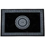 Webteppich Daryl,160x230cm - Schwarz/Weiß, KONVENTIONELL, Textil (160/230cm) - OMBRA