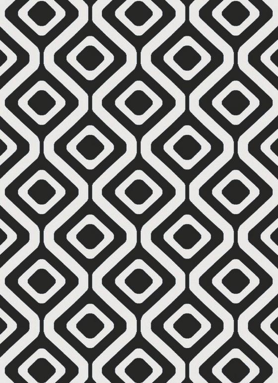 Webteppich Dehli 120x170 cm - Schwarz/Weiß, KONVENTIONELL, Textil (120/170cm) - Luca Bessoni