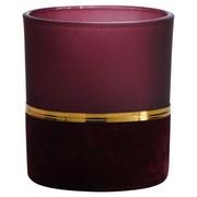 Teelichtglas Bay Klein - Pink/Goldfarben, Basics, Glas (7/8cm)