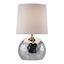 Stolová Lampa Cecilia - chrómová/strieborná, Moderný, kov/textil (23/39cm) - Mömax modern living
