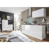 Küchenblock Welcome Jazz 4 inkl. Blockelement 200cm Weiß - Anthrazit/Weiß, KONVENTIONELL, Holzwerkstoff (200+120/60cm)