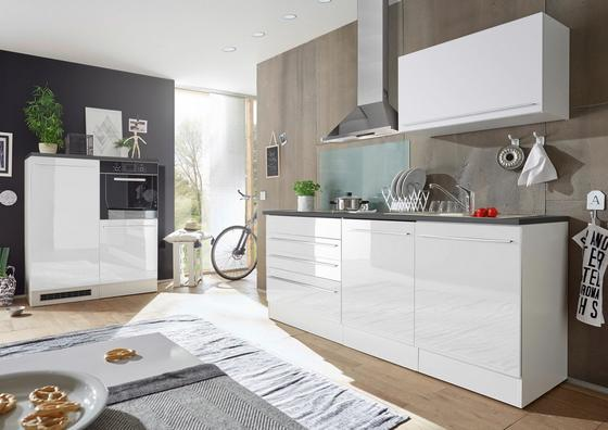Küchenblock welcome jazz 4 inkl blockelement 200cm weiß anthrazit weiß konventionell
