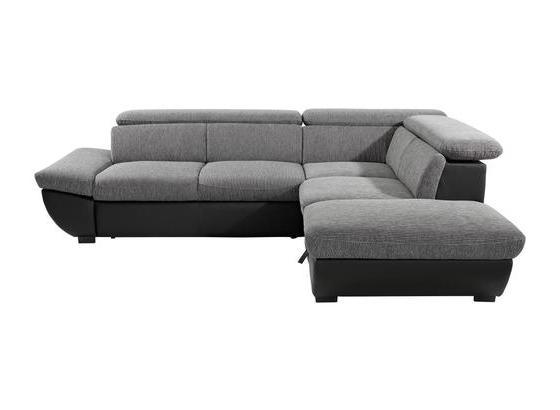 Sedací Souprava Chance - šedá/černá, Moderní, textil (270/228cm)