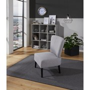 Stuhl Odense Grau - Schwarz/Grau, MODERN, Holz/Textil (64/82/66cm) - Ombra