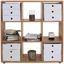 Regál Fontana Ftr01 - farby dubu, Moderný, kompozitné drevo (108,8/110,2/35cm)