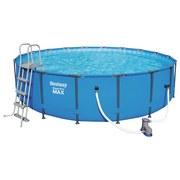 Schwimmbecken Steel Pro Max Pool Set - Blau/Weiß, MODERN, Kunststoff/Metall (549/122cm) - Bestway