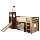 Spielbett Toby R 90x200 cm Dunkelbraun - Dunkelbraun/Creme, Natur, Holz (90/200cm) - Carryhome