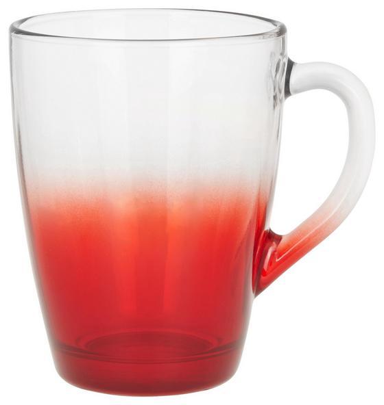 Teeglas Maude - Pink/Rot, Glas (8,9/11,7cm) - Luca Bessoni