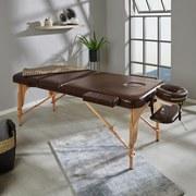 Massageliege Wooden - Braun, MODERN, Holz/Holzwerkstoff (185/62/70cm) - Ombra