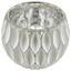 Teelichthalter Alette - Silberfarben/Weiß, Basics, Glas (11/9cm) - Luca Bessoni