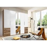 Drehtürenschrank Level 36a 250cm Weiß/eiche - Eichefarben/Weiß, MODERN, Holzwerkstoff (250/216/58cm)