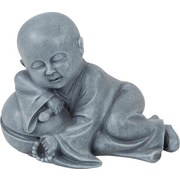 Buddha Jerrit - Grau, KONVENTIONELL, Kunststoff (19/11/14cm) - OMBRA