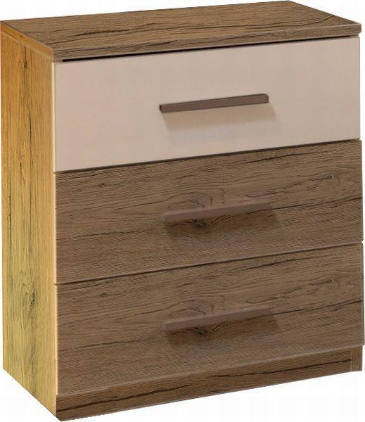 Noční Stolek Mars - barvy dubu, Moderní, kompozitní dřevo (46/56/41cm)