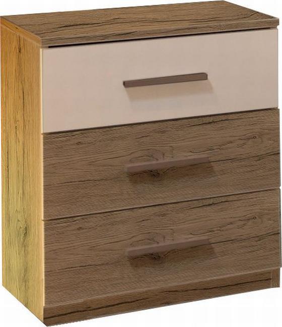 Nočný Stolík Mars - farby dubu, Moderný, drevený materiál (46/56/41cm)