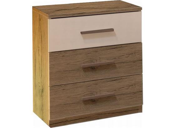 Nočný Stolík Mars - farby dubu, Moderný, kompozitné drevo (46/56/41cm)