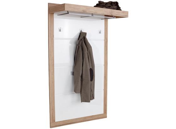 Vešiakový Panel Malta - farby dubu/biela, Moderný, kompozitné drevo (94,9/147,7/34cm)