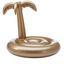 Nafukovací Ostrov Goldie - zlatá, plast (150/100cm)