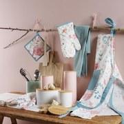 Chňapka A Rukavice Blossoms - Multicolor/světle modrá, Romantický / Rustikální, textil (20/20cm) - Mömax modern living