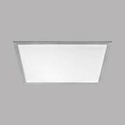 LED-Paneel Salobrena 2 - Alufarben/Weiß, MODERN, Kunststoff/Metall (59,5/59,5/1,1cm)