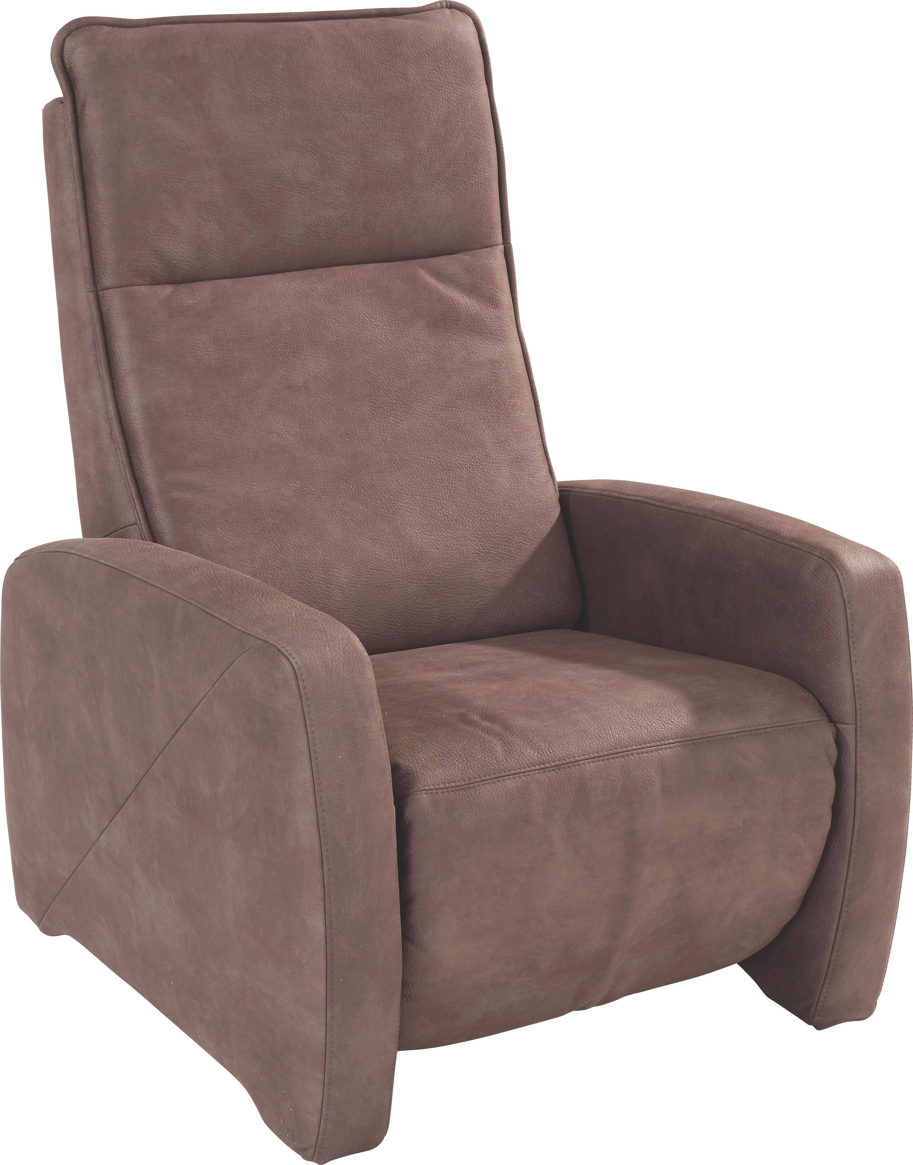 Tv-fotel Moskau - sötétbarna, konvencionális, textil (76/110/91cm)