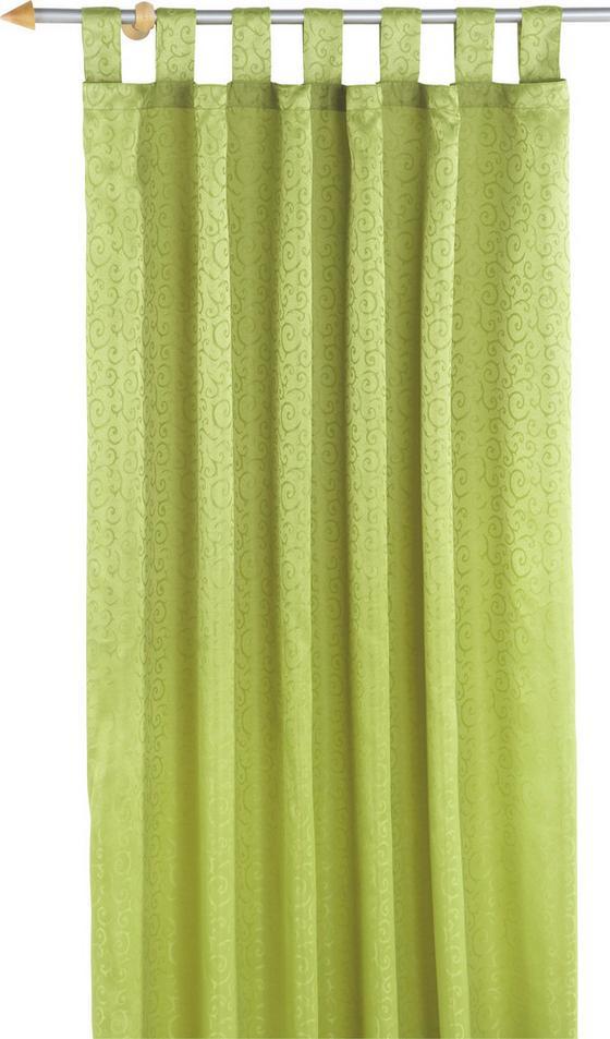 Kombivorhang Curl - Blau/Champagner, KONVENTIONELL, Textil (140/255cm) - OMBRA