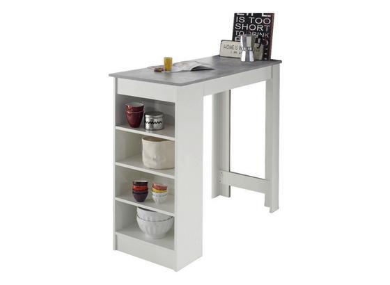 Bartisch Mojito L: ca. 115 cm - Weiß/Grau, Design, Holzwerkstoff (115/50/103cm) - Ti`me
