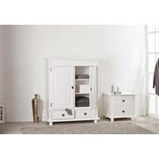 Kommode Echtholz Massiv B 116cm Danz, Weiß - Weiß, Design, Holz (116/140/57cm) - Carryhome