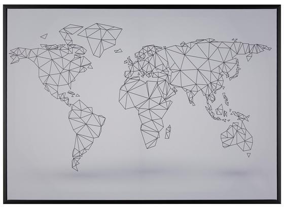 Obraz S Napínacím Rámem Liam - bílá/černá, kompozitní dřevo/textil (70cm) - Mömax modern living