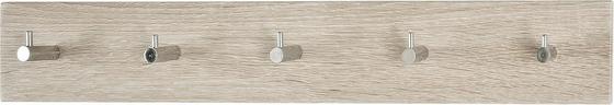 Nástenný Vešiak Eddy 5 - farby dubu, Moderný, drevo (57/5/8cm)