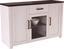 Komoda Sideboard Provence - biela/farby wenge, Romantický / Vidiecky, drevený materiál (153,9/82,3/42cm) - James Wood