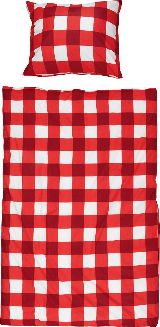 Bettwäsche Marie - Rot/Weiß, ROMANTIK / LANDHAUS, Textil (140/200cm)