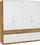 Kleiderschrank Aalen Extra, 181cm - Eichefarben/Weiß, KONVENTIONELL, Glas/Holzwerkstoff (181/197/54cm)