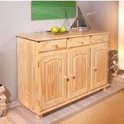 Kommode Echtholz B 130cm Abaco, Kiefer Naturfarben - Naturfarben, LIFESTYLE, Holz (130/87/43cm) - Carryhome