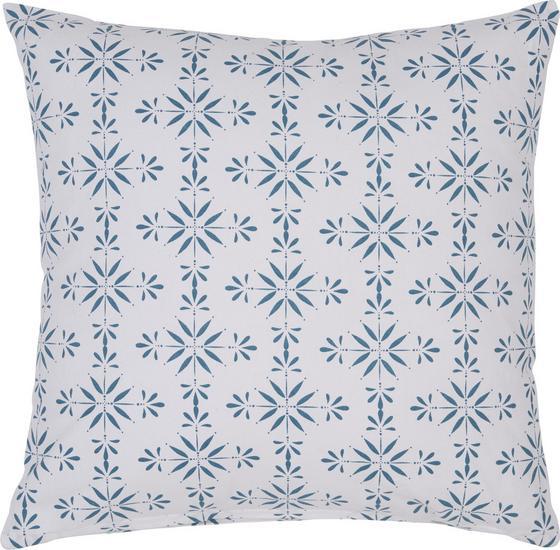 Polštář Ozdobný Agnes 01 - bílá/modrá, Moderní, textil (45/45cm) - Mömax modern living