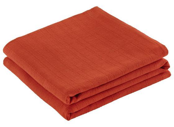 Přehoz Solid One -ext- - oranžová, textil (240/210cm) - Based