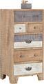 Komoda Highboard Havanna - hnedá/sivá, Štýlový, drevený materiál/drevo (60/118/45cm) - Zandiara