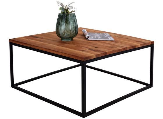 Konferenčný Stolík Villach - farby dubu/čierna, Moderný, kov/drevo (85/40/85cm)