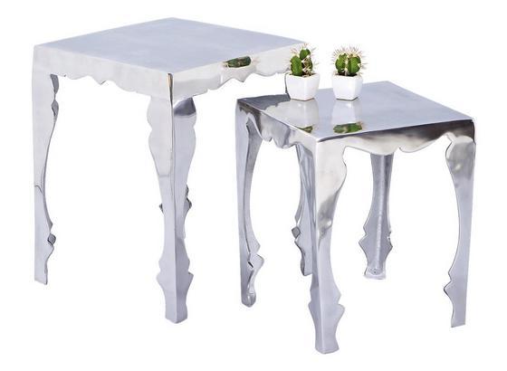 Beistelltisch 2er-Set Solta Silberfarben - Silberfarben, Basics, Metall (39,5/39,5/50cm) - Livetastic