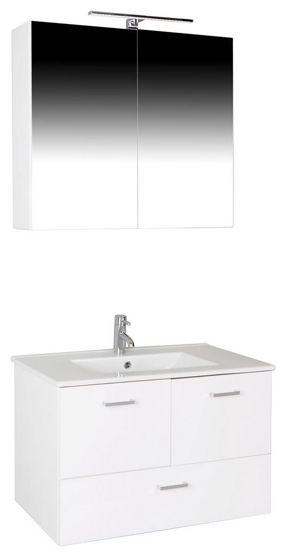 Badezimmer Bergamo - Weiß, KONVENTIONELL, Keramik/Holzwerkstoff (80/72/46cm)
